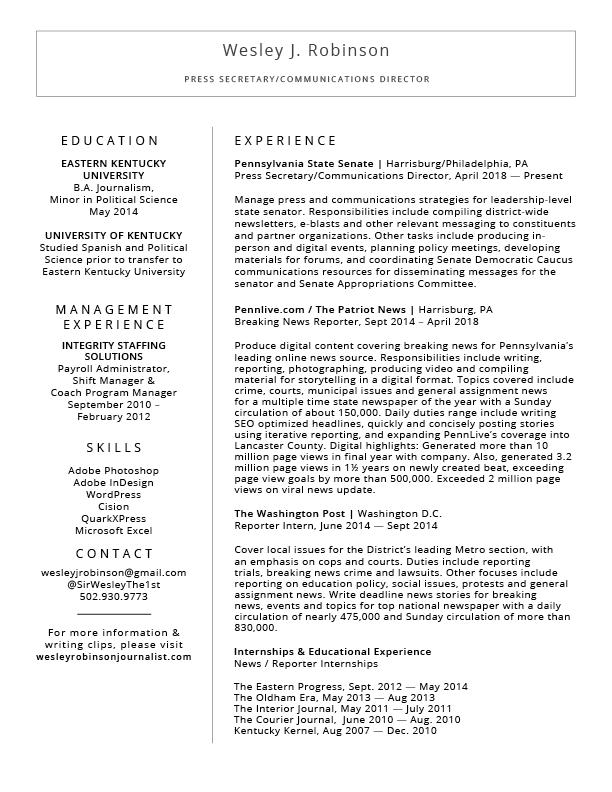 WJR Resume